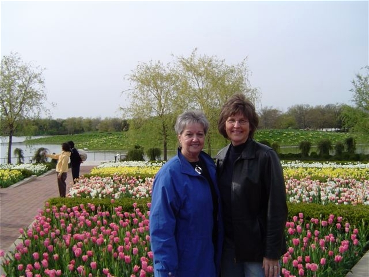 Shirly and Carol at the Gardens, a Sacred Place.