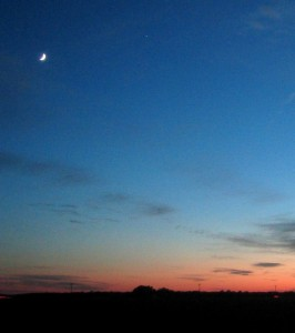 A Texas Sunset/Moonrise, Hondo, TX 09-2006