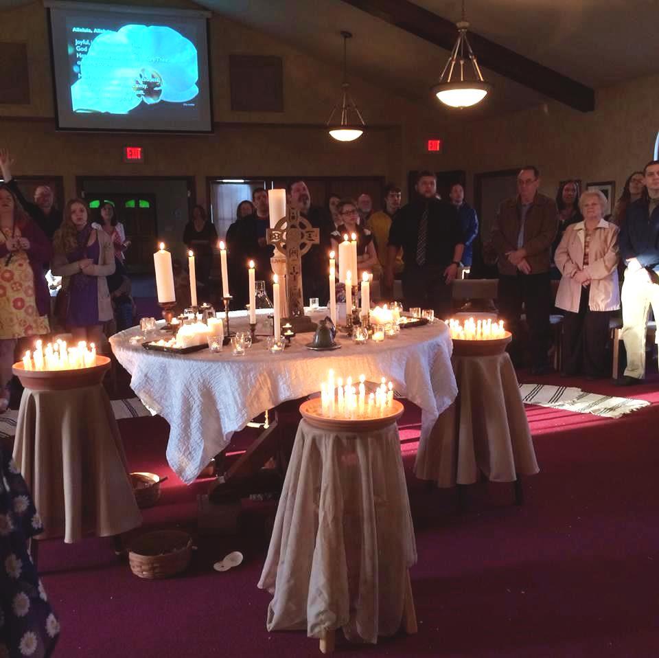 alleluia lighting of candles